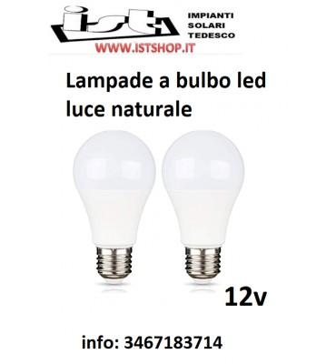 Lampada bulbo a LED 9W 12V 24V DC Luce Naturale 4000K E27