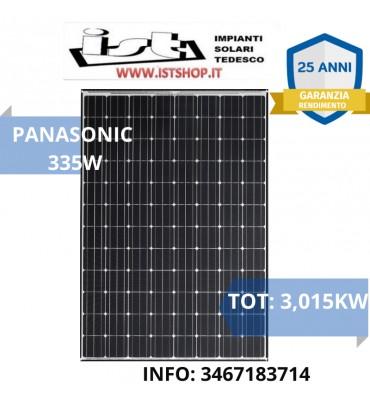 KIT 3 KW Fotovoltaico 335W Monocristallino PANASONIC