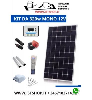 Pannello Solare 320W Monocristallino 21Ah modificato 12v