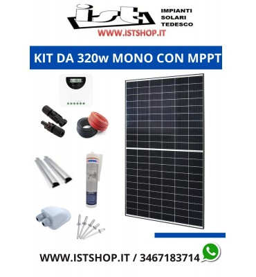 Kit fotovoltaico da 320w con MPPT originale