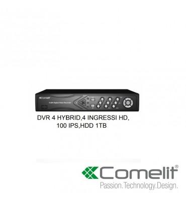 DVR 4 CANALI HYBRID,4 INGRESSI HD,100 IPS,HDD 1TB