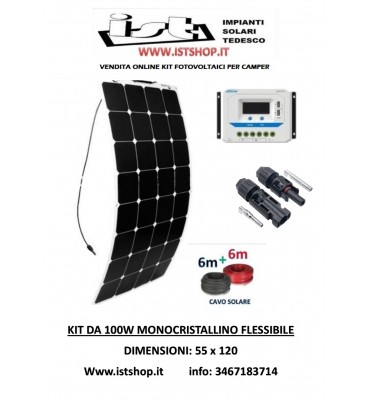 Pannello Fotovoltaico flessibile 100W monocristallino