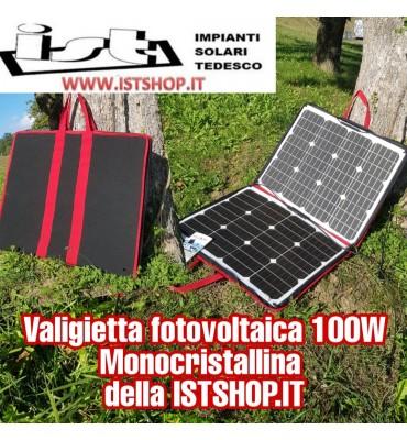 Valigetta Fotovoltaica  100w Monocristallina
